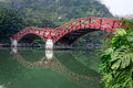 Double arch bridge guihu lake guilin xiqing footbridge at two rivers and four lakes scenic china Royalty Free Stock Photo