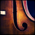 Double bass close up of wooden musical instrument that is played with a bow Stock Photos
