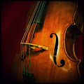 Double bass close up of wooden musical instrument that is played with a bow Stock Image