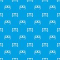Double bed pattern seamless blue