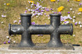 Double bollard image of a in northern germany Stock Photo