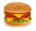 Double cheeseburger. Royalty Free Stock Photography