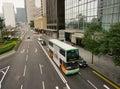Double-deck bus running in Hong Kong