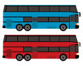 Double decker bus in blue and red color Royalty Free Stock Photo
