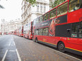 Double decker bus london england uk october row of red buses waiting to depart from on october in london england uk Stock Photos
