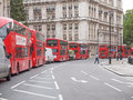 Double decker bus london england uk october row of red buses waiting to depart from on october in london england uk Royalty Free Stock Images