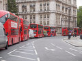 Double decker bus london england uk october row of red buses waiting to depart from on october in london england uk Royalty Free Stock Image