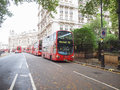 Double decker bus london england uk october row of red buses waiting to depart from on october in london england uk Stock Photo