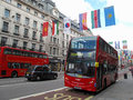Double decker bus in Regent street Stock Images