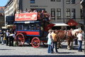 Double Decker horse carriage ride Dresden Royalty Free Stock Images