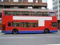 Double decker red bus Stock Photos