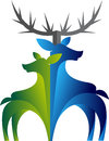 Double deer logo Royalty Free Stock Photo