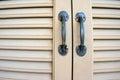 Double door handles in Stock Photos