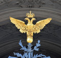 Double eagle russia saint petersburg on the gate of winter palace Royalty Free Stock Image