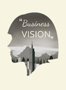 Double exposure  for business vision Royalty Free Stock Photo