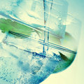 Double exposure of mixed drinks Royalty Free Stock Photo