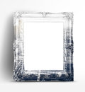 Double exposure of Vintage photo frame and black and white city Royalty Free Stock Photo