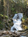 Double falls water in north central montana near the town of augusta Stock Image