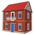 Double-floor cottage Stock Image