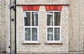 Double glaze windows pair of modern glazed in a house Stock Photos