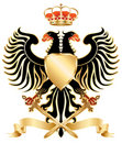 Double-headed eagle color Royalty Free Stock Photography