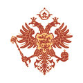 Double headed eagle russian coat of arms isolated Stock Photo