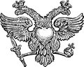 Double headed eagle vector drawing of the the symbol of imperial power Royalty Free Stock Photography