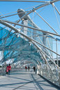 The Double Helix Bridge Royalty Free Stock Photo