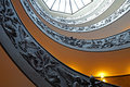 The Double Helix Staircase at the Exit of the Vatican Museums Royalty Free Stock Photo