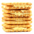 Double layer cookies Stock Image