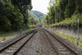 Double rail track picture of japanese Stock Photography