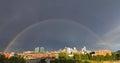 Double Rainbow Over Downtown Denver, Colorado