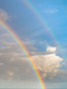 Double rainbow over ocean colorful a tropical Stock Image