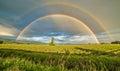 Double Rainbow Over a Tree Royalty Free Stock Photo