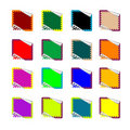 Double rounded rectangle colored stickers on white Stock Photography