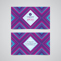 Double sided business card design layout template.