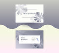 Double-sided business card in graphite color