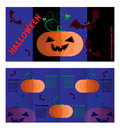 Double-sided flyer. Invitation to Halloween.