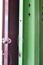 Double steel folding door