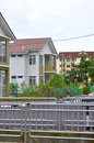 Double storey house in new estate at penang malaysia Stock Photo