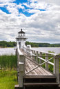 Doubling point lighthouse on the kennebec river maine coastal new england Royalty Free Stock Photos