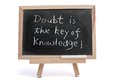 Doubt is the key of knowledge Stock Photo