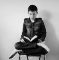 Doubt young boy people expression Royalty Free Stock Images