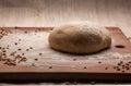 Dough on flour Royalty Free Stock Photo
