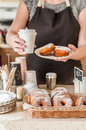 Doughnut Store Counter Royalty Free Stock Photo