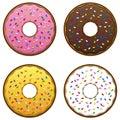 Doughnuts EPS Royalty Free Stock Photos
