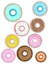 Doughnuts illustration isolated on white background
