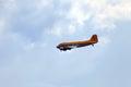 The douglas c skytrain or dakota zhukovsky russia aug raf designation is a american military transport aircraft celebrating of Royalty Free Stock Photo