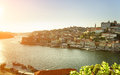 The douro river and historic centre of porto at sunset portugal is one most popular tourist destinations in europe Royalty Free Stock Photography
