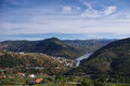 Douro valley in portugal scenic view of river landscape of Royalty Free Stock Photography